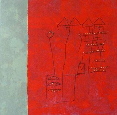 GOUJAUD Anne Rhodamine Eau-forte sur papier...
