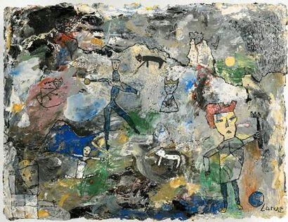LARUS Eliane Jeux avec animaux - 2006 Peinture...