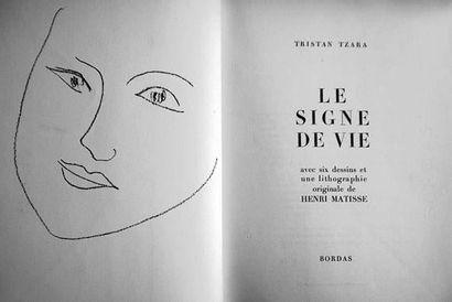 TZARA (Tristan). - Le Signe de Vie avec six...