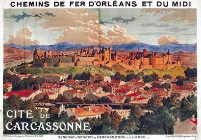 Cité de Carcassonne Chemins de Fer d'Orléans...
