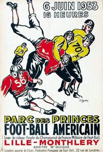 Foot-Ball Americain R.GAUTHEY Parc des Princes....