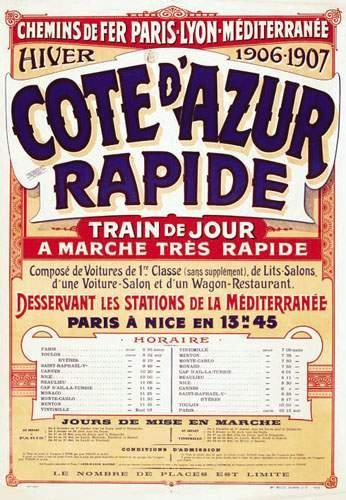 Côte d'Azur Rapide Chemins de Fer de Paris...