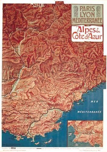 Alpes & Côte d'Azur PLM. Hugo d' Alesi Paris...