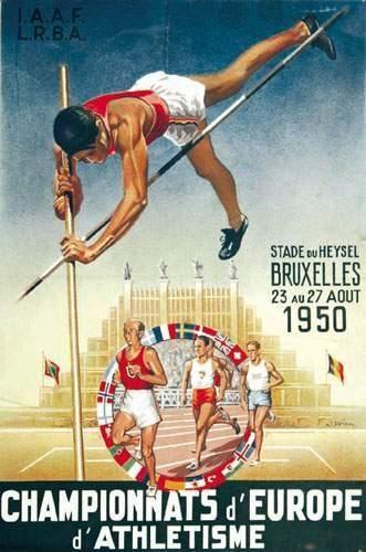 Championnats d'Europe d'Athletisme - Bruxelles...