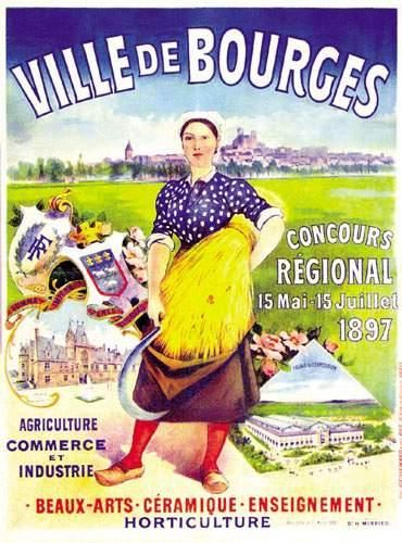 Ville de Bourges - Concours régional 1897...