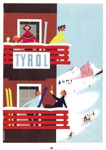 Tyrol Tiroler Graphik Innsbruck Aff. N.E....