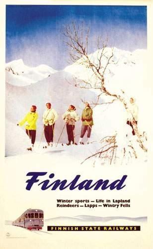 Finland Finnish state railways. Winter sports...