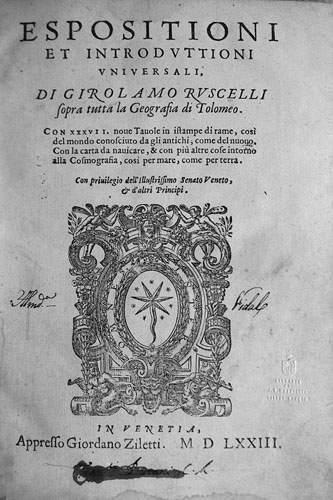PTOLEMEE - G. RUSCELLI. - Espositioni et...