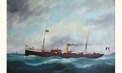 Edouard Adam (1847-1929). « Campinas ». Huile sur toile, signée en bas à droite...