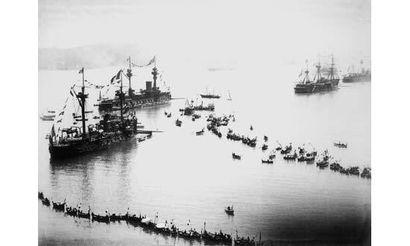 RIVES. « Flotte française en rade de Villefranche...