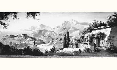 BETINA - École ITALIENNE, XIXe siècle « Paysage...
