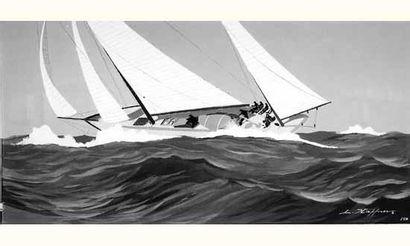 Léon HAFFNER, (1881-1972) Peintre de la Marine...