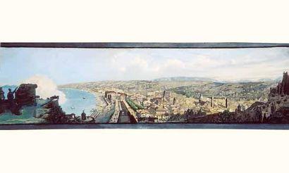 École FRANÇAISE XIXe siècle. « Vue panoramique...