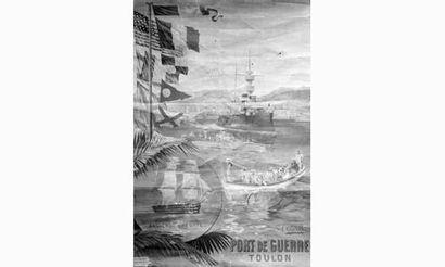 Hugo D'ALESI « Toulon port de guerre ». Affiche...