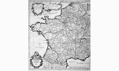 SANSON. Géographe du Roi. « Carte des postes...