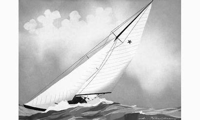 Léon HAFFNER (1881-1972) « Star en course...