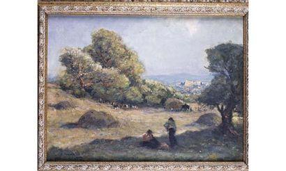 Fernand MAILLAUD (1862-1948) « La fenaison,...