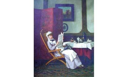 Van der VOORT (École du XIXe siècle) « La...