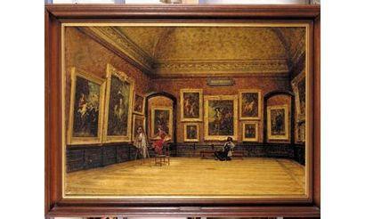 Louis BEROUD (1852-1930) « La salle Van Dyck...