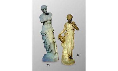 Vénus de Milo. Statue en marbre blanc, sculpté....