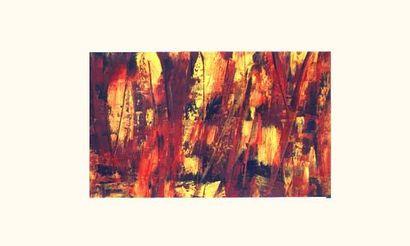 Sans titre / Pigment et liant sur toile...