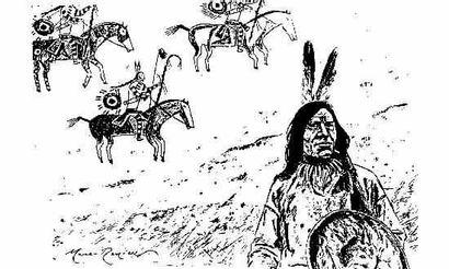 MARC-RENIER «Black Hills 1890». Crayonné...