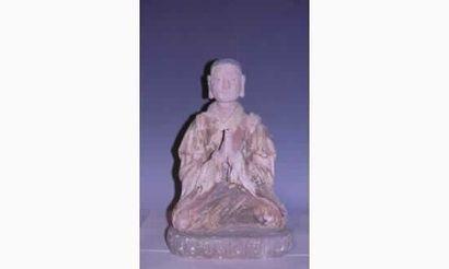MING Exceptionnel Lo-Hun assis en méditation...