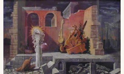 Jean RANSY (1910) - Ecole BELGE « Paysage...