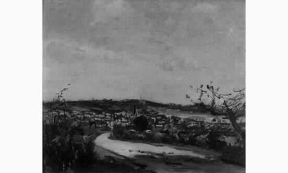Charles LAPICQUE (1898-1988) «Vue du village...