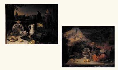 ECOLE HOLLANDAISE, fin XVIIIe siècle « Tables...