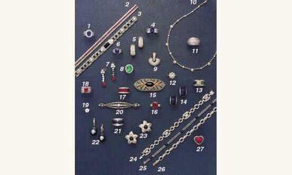 PHOTO 2 1.BAGUE saphir (3,50 cts) et diamants,...