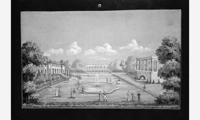 Ecole ITALIENNE, début XIXème siècle « Paysages...