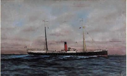 J. BLANC « Navire mixte de la C.G.T. » Huile...