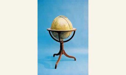 Globe céleste de parquet, par Dudley Adams....