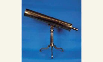 Téléscope en laiton de type grégorien, signé...