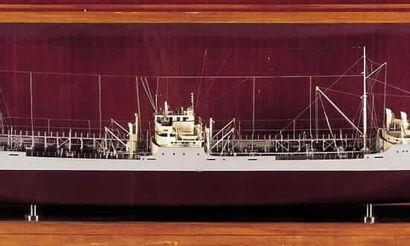Importante maquette d'armateur représentant...