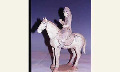 Dynastie Tang ( 618-907 ap JC) Prêtre à cheval...