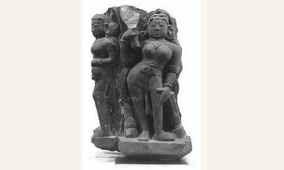Stèle en Grés Rose, représentant Parvati...
