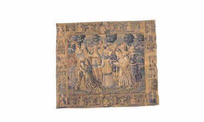 TAPISSERIE DES FLANDRES - Fin XVIème siècle...