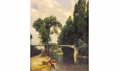 Marie Euphrosine LOUSTAU (1831-?) « Les lavandières...