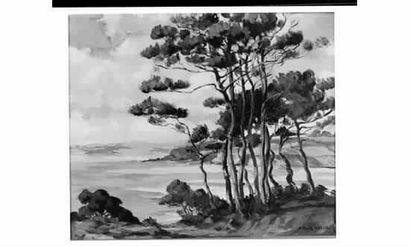 P. RAIGHASSE (Actif au XXème siècle) « Paysage...