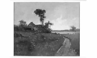 Karl P. DAUBIGNY (1846-1886) « La chaumière...