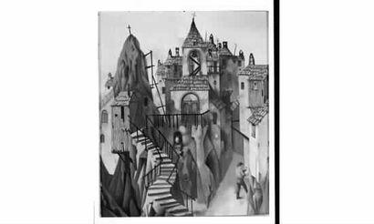 Claude VERLINDE « Village troglodyte », 1959...