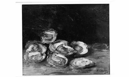 Antoine VOLLON (1833-1900) « Six huîtres...