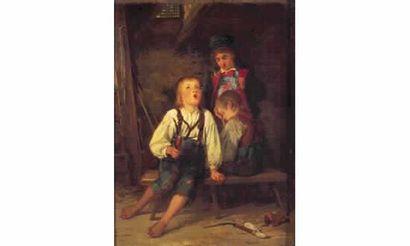 Carl BERNARD SCHLOESSER (1832-1914) « Jeu...