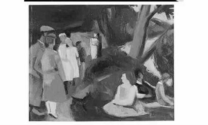 Robert LOTIRON (1886-1966) « La partie de...