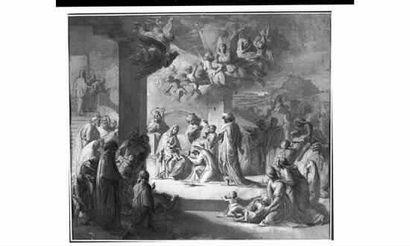Ecole NORDIQUE, néoclassique « L'Adoration...