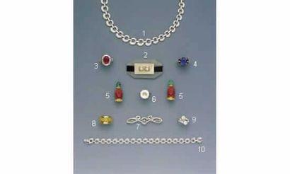 1.COLLIER, en or, pavé de diamants (60/70000)...