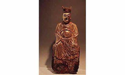 MING(1368-1644 ap.J.C.) Dignitaire en bois...