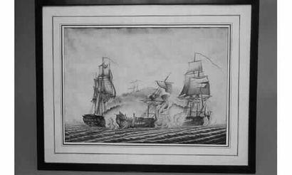 Ecole FRANÇAISE, XVIIIème siècle. « Engagement...